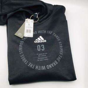 Adidas Gray TI Bos Hoodie L